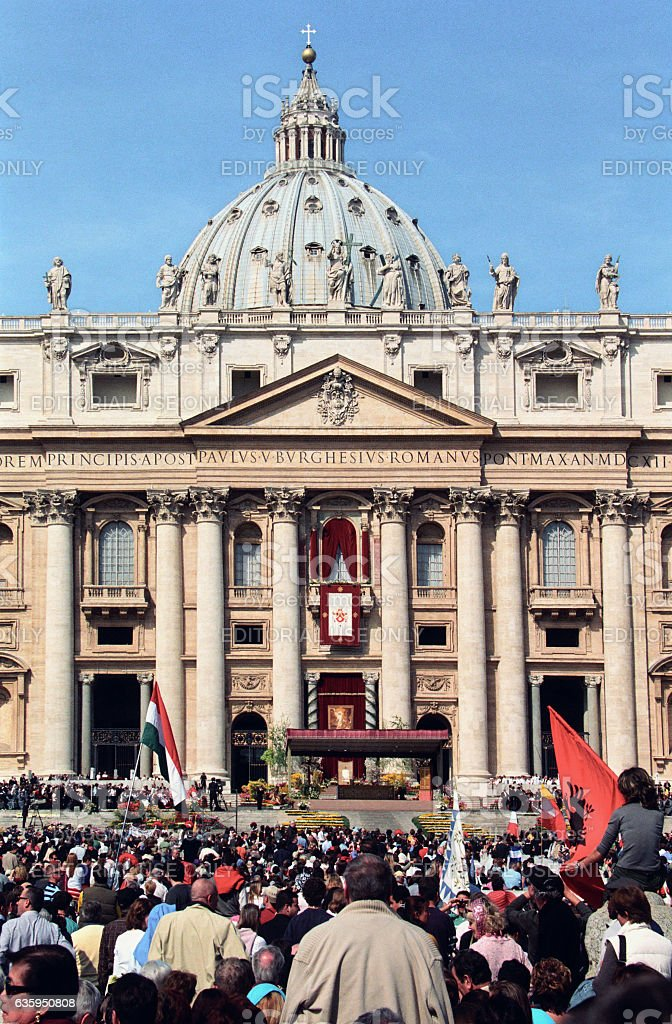 Easter Celebration At St Peters Square In Vatican Italy