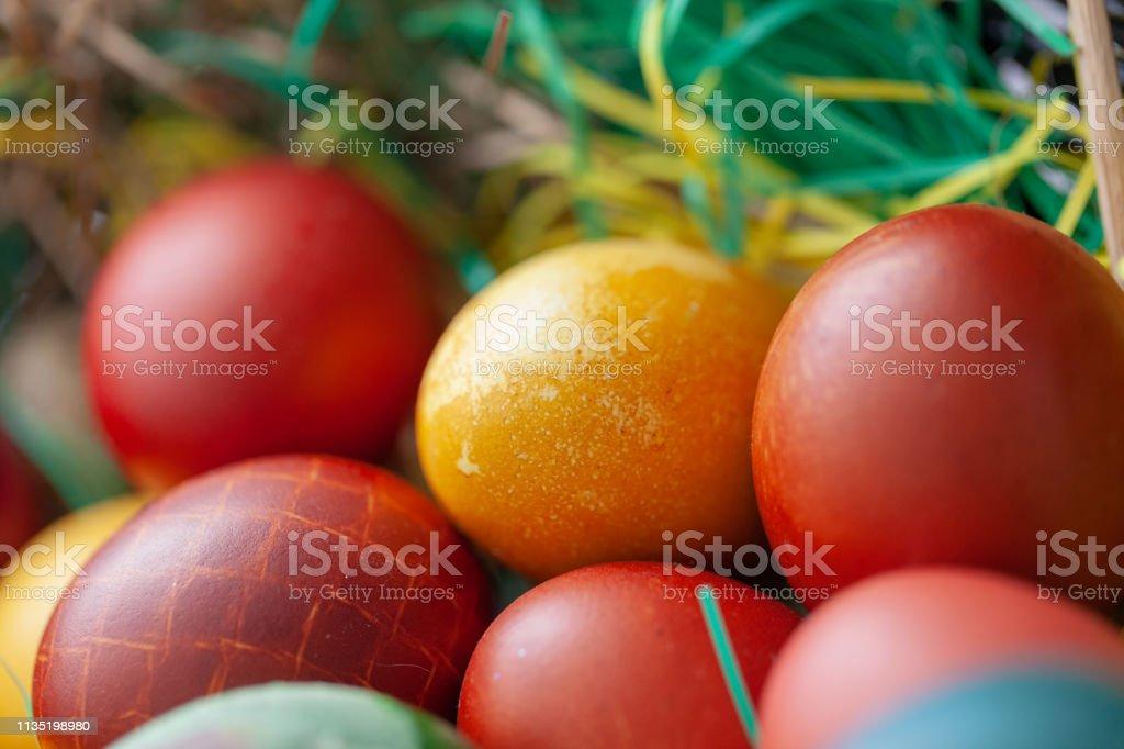 Easter Celebration - Easter eggs stock photo