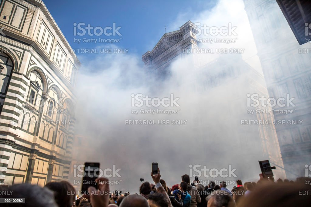 Easter Celebration in Florence, Italy royalty-free stock photo