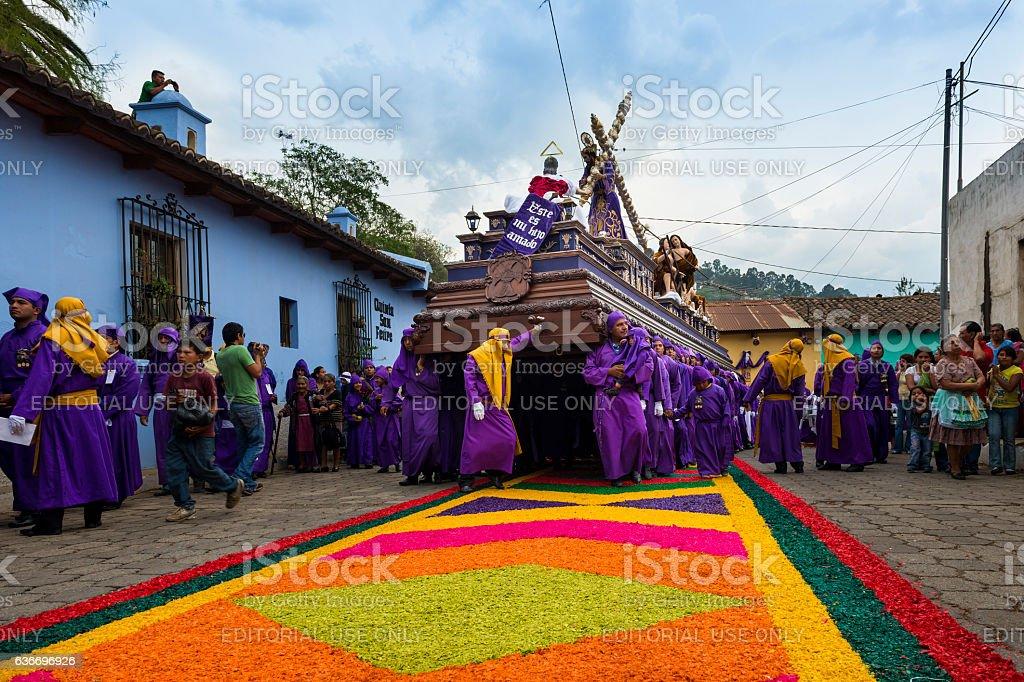 Easter Celebrations in Antigua, Guatemala stock photo