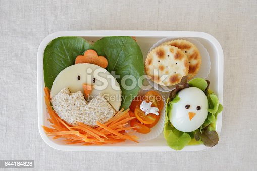 istock Easter chick lunch box, fun food art for kids 644184828