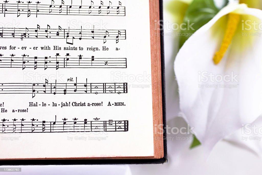 Easter Christian Sheet Music Hallelujah Christ Arose Lilly Hymn