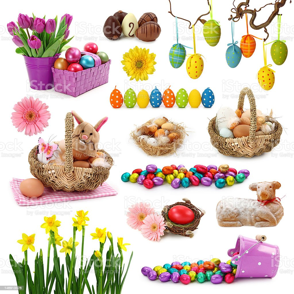 Easter collection royalty-free stock photo