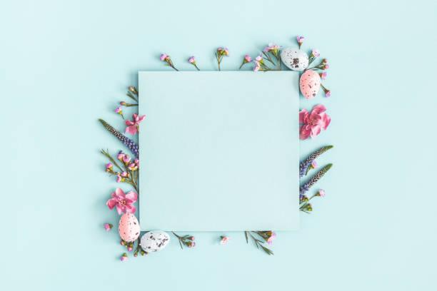 Easter composition easter eggs flowers paper blank on pastel blue picture id1134930140?b=1&k=6&m=1134930140&s=612x612&w=0&h=9i2gorjtjwxu16web4pk3ukpdujyojuzeade25hoooi=