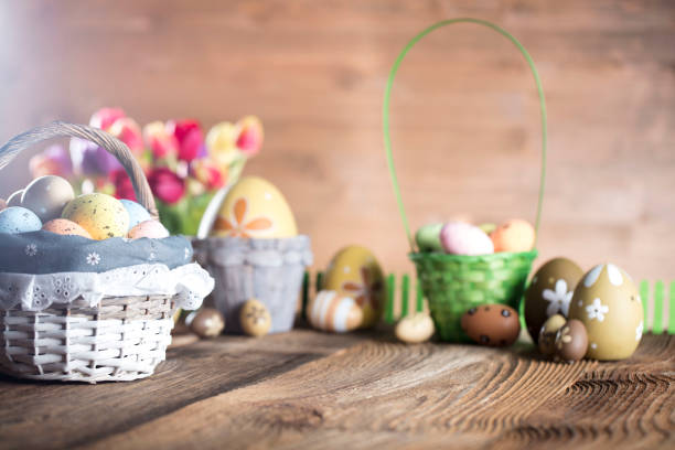 Easter concept background stock photo