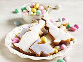 イースター クッキーとアーモンドのお菓子