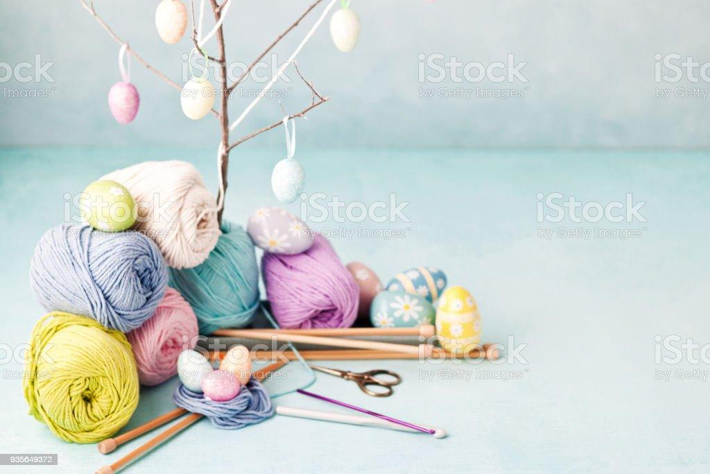 Ostern Basteln Ostereier Stricken Und Häkeln Wolle Und Haken