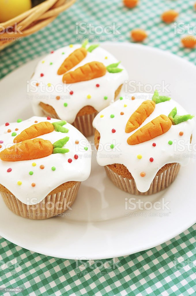 Easter cupcakes stock photo
