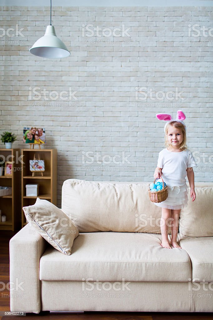 Easter cutie stock photo