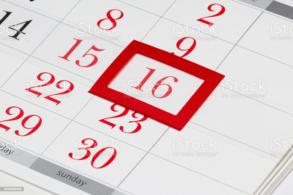 Easter date on calendar stock photo