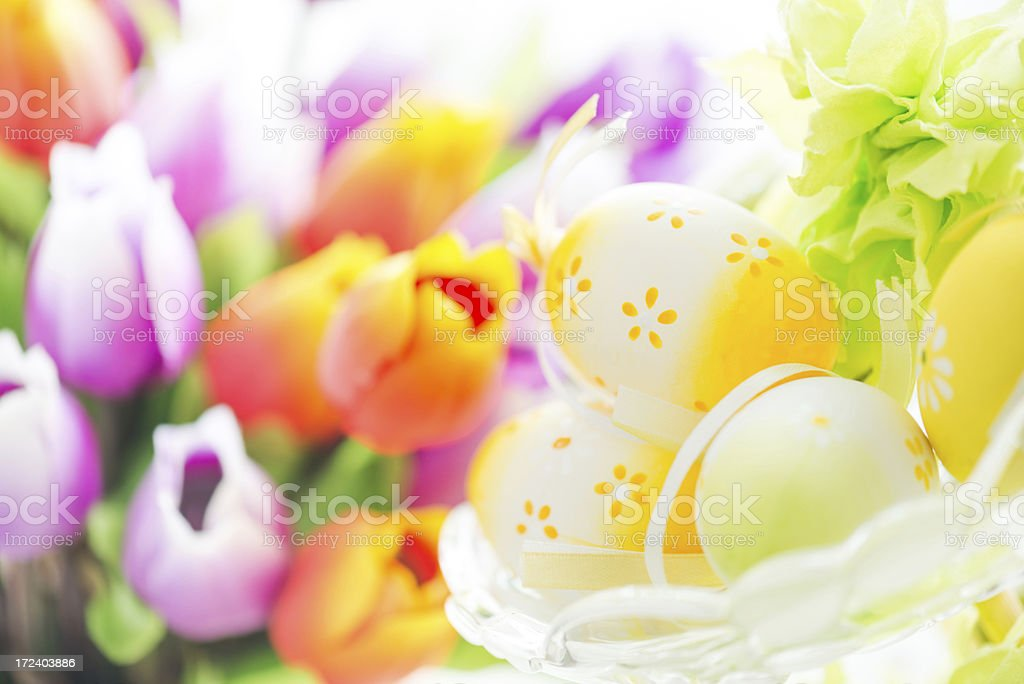 Easter decorated scene royalty-free stock photo
