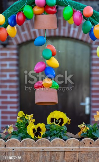 istock easter decoration in front of a house 1144577436