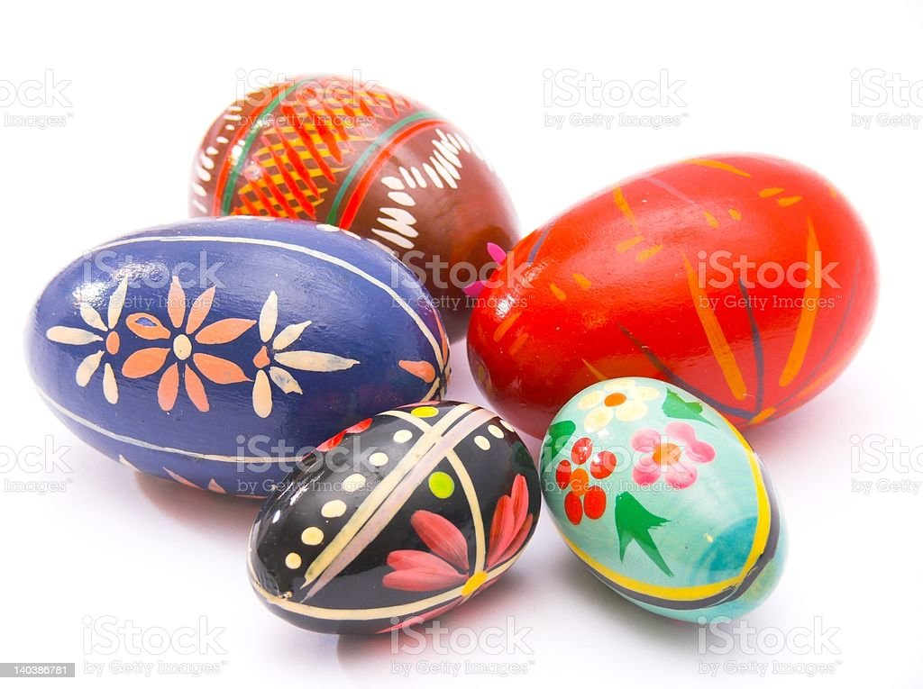 easter decoration - painted eggs royalty-free stock photo