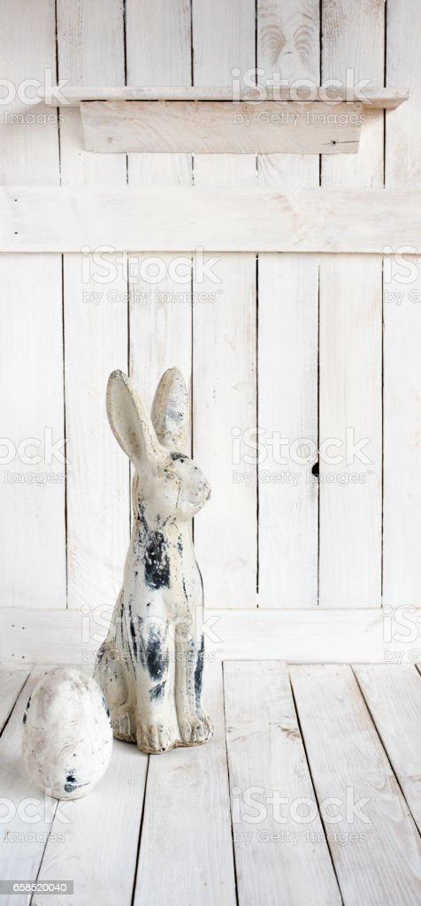 Easter decoration with bunny and egg stock photo