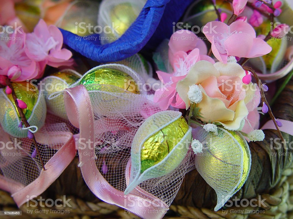 Easter Decoration with Flowers and Eggs royalty-free stock photo