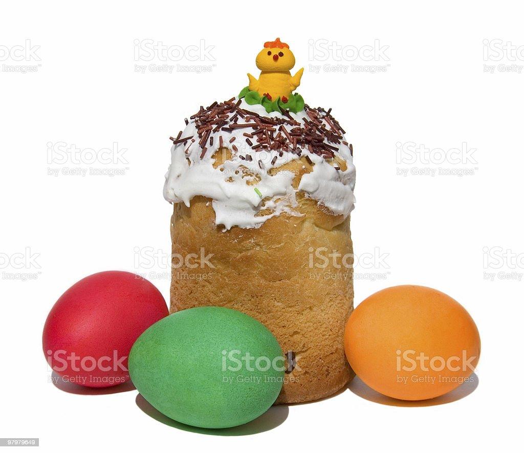 Easter dessert - paskha royalty-free stock photo