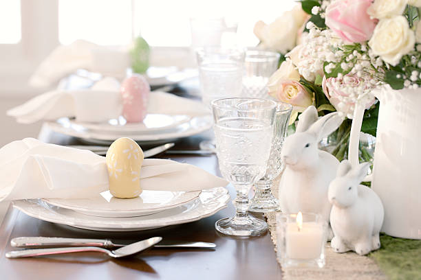 easter dining - easter brunch stock photos and pictures