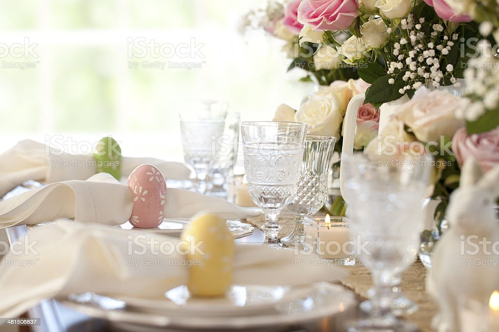Easter Dining stock photo
