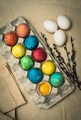 Easter. Easter eggs. Easter decor.
