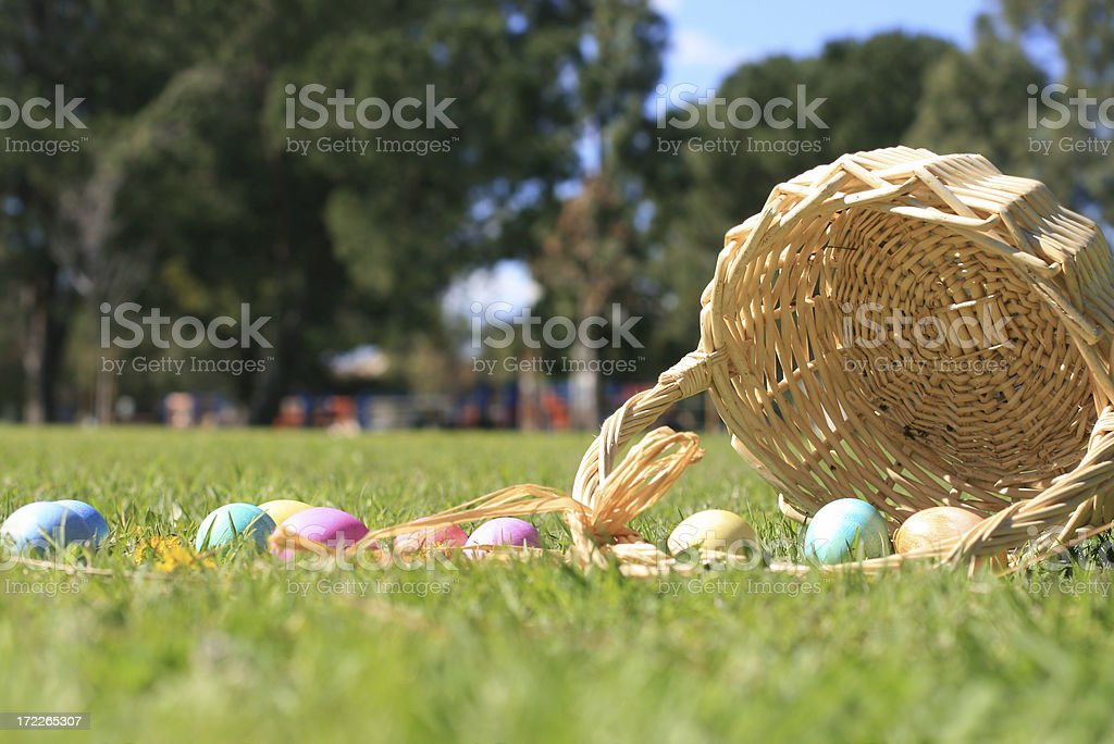 Easter Egg Basket royalty-free stock photo