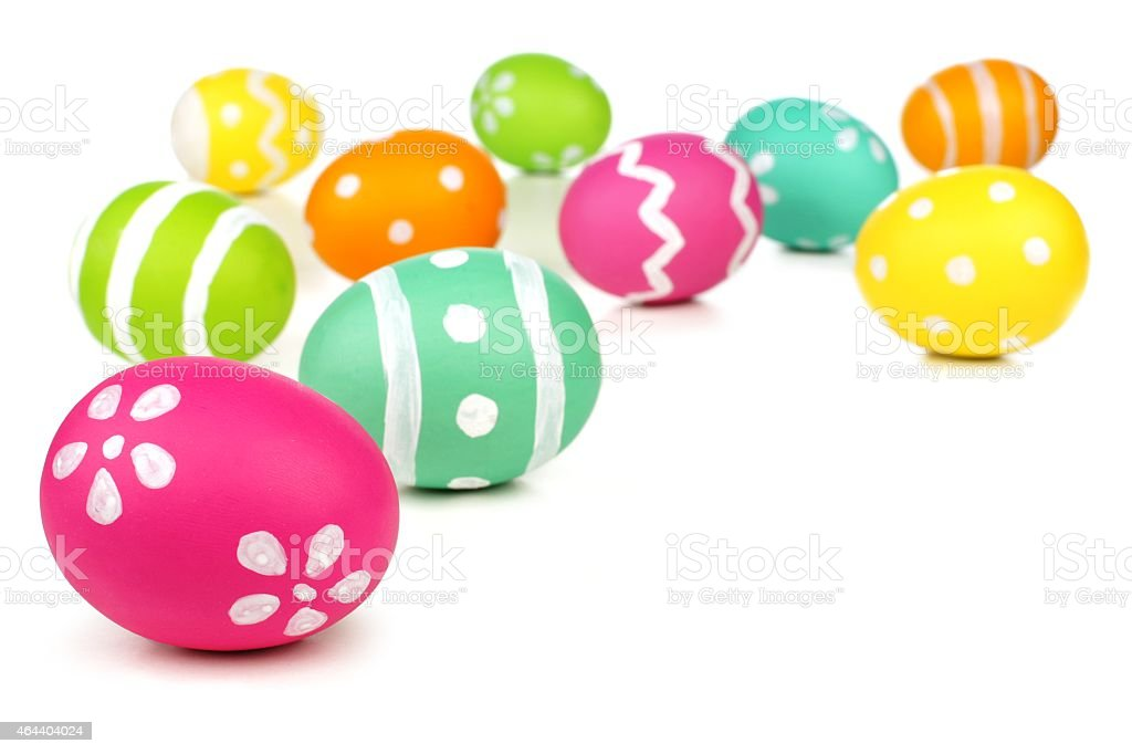 Easter egg border or background stock photo