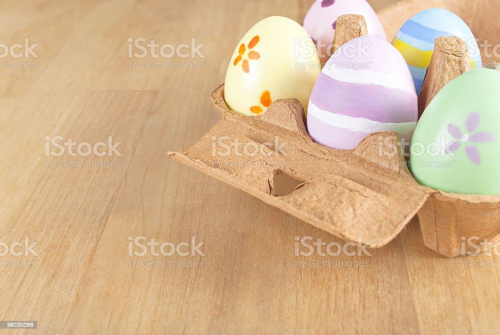 Easter Egg Box Angled royalty-free stock photo