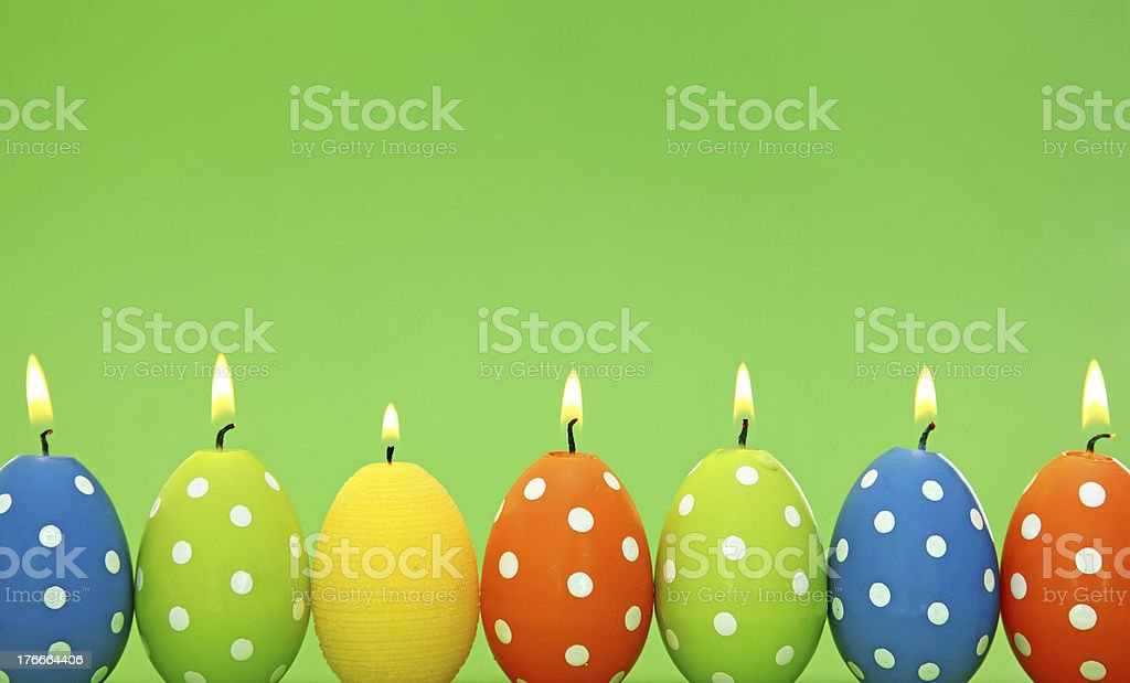 Easter egg candles royalty-free stock photo