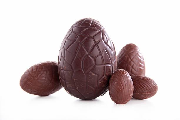 easter egg chocolate stock photo
