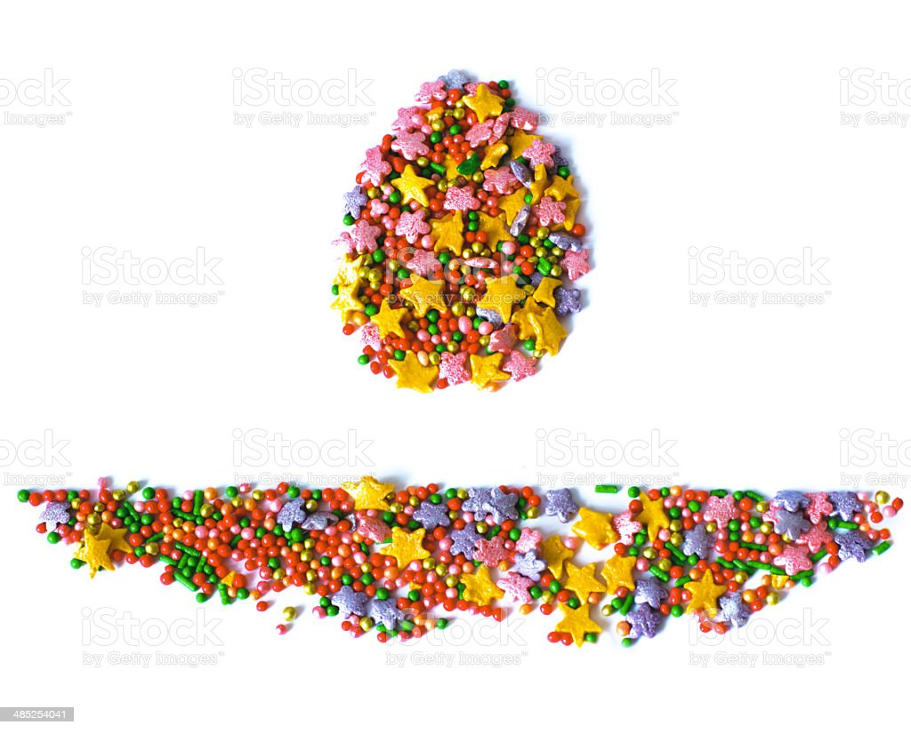 Easter egg, colored texture, sweets, sugar stock photo