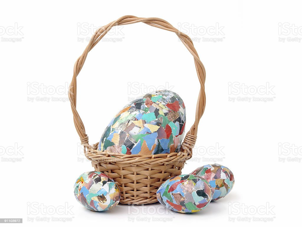 Easter egg composition royalty-free stock photo