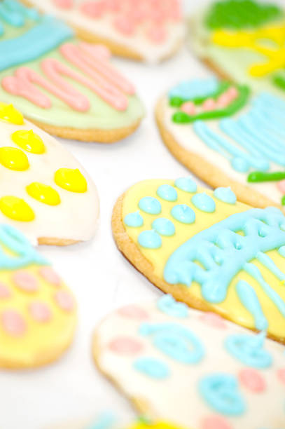 Easter Egg Cookies stock photo