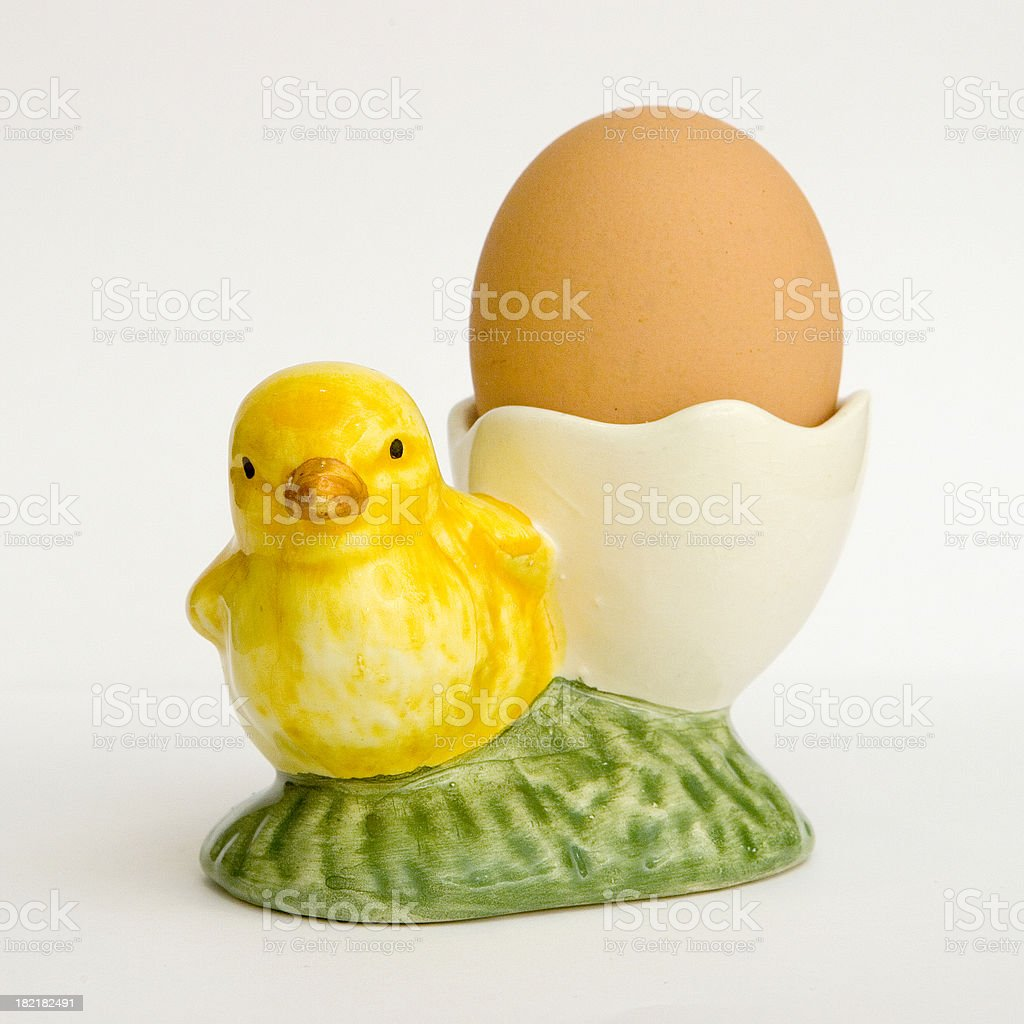 easter egg cup stock photo