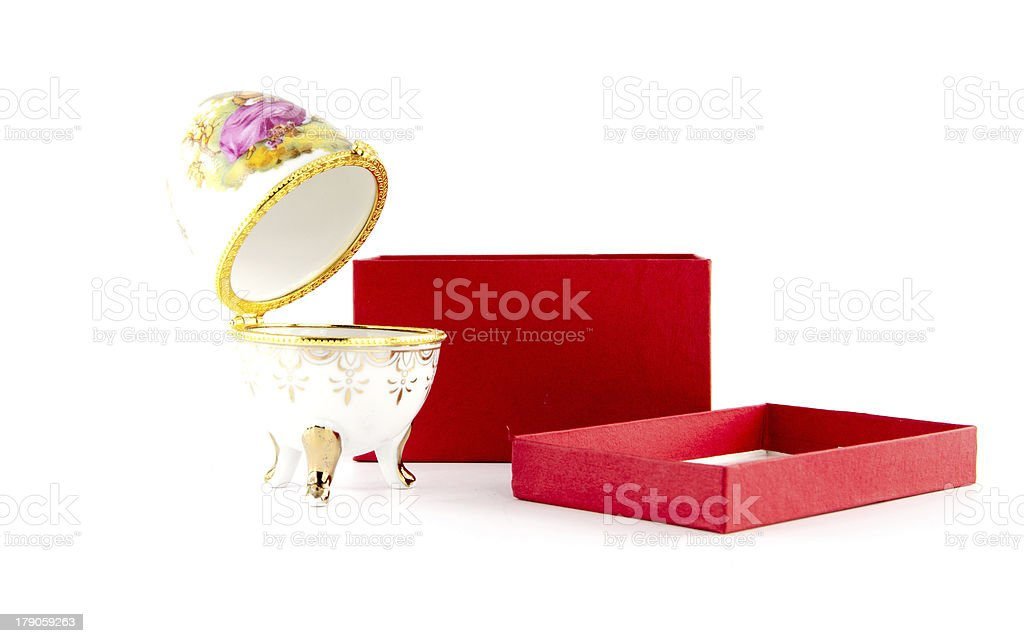 Easter egg for jewellery royalty-free stock photo