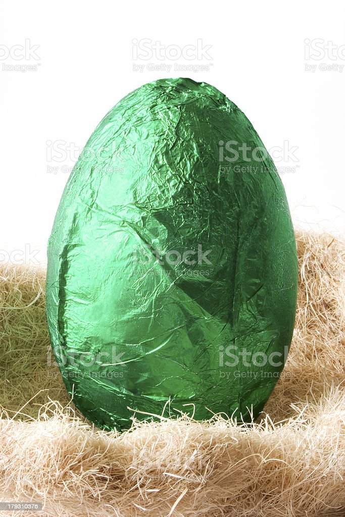 Easter Egg - Green royalty-free stock photo