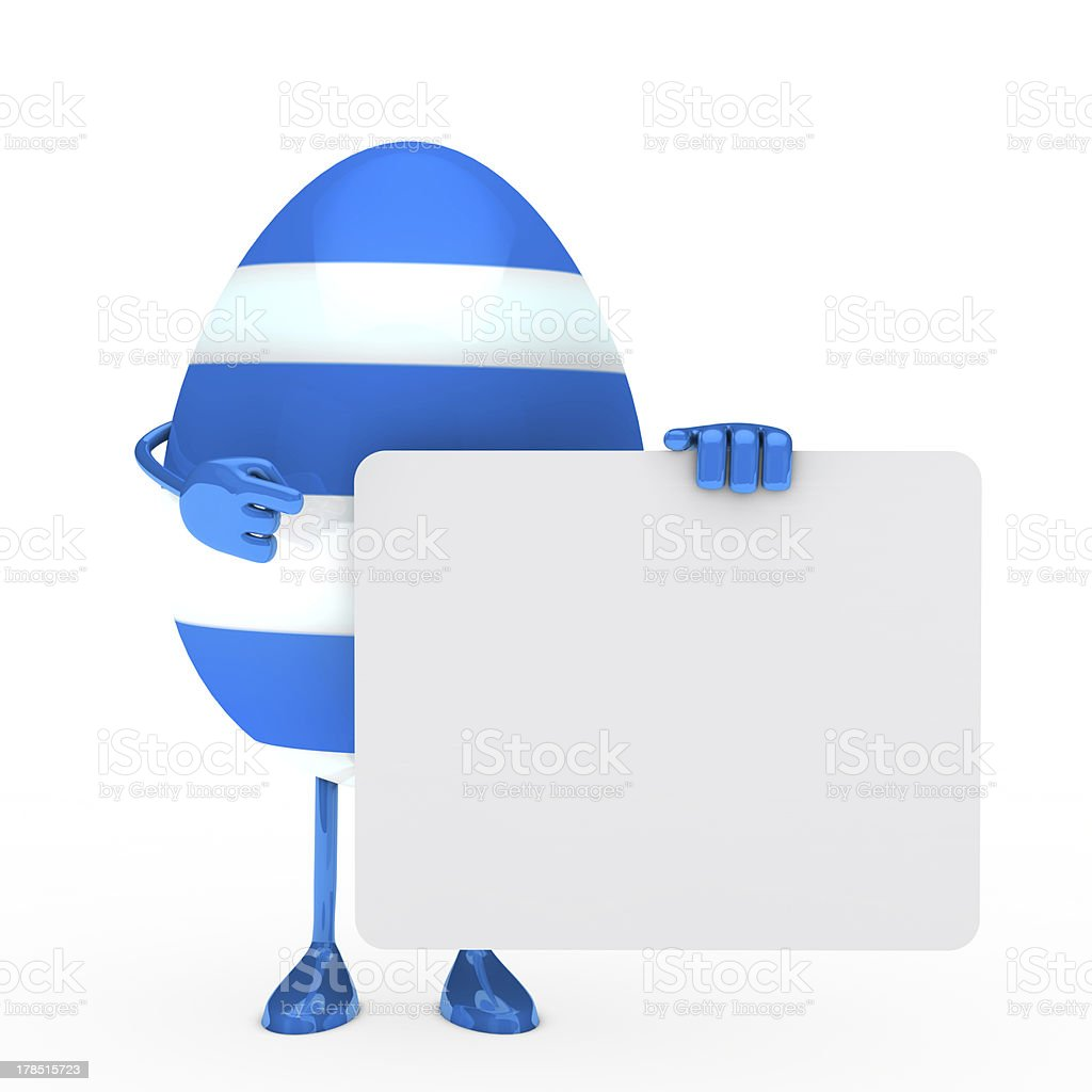 easter egg hold billboard royalty-free stock photo