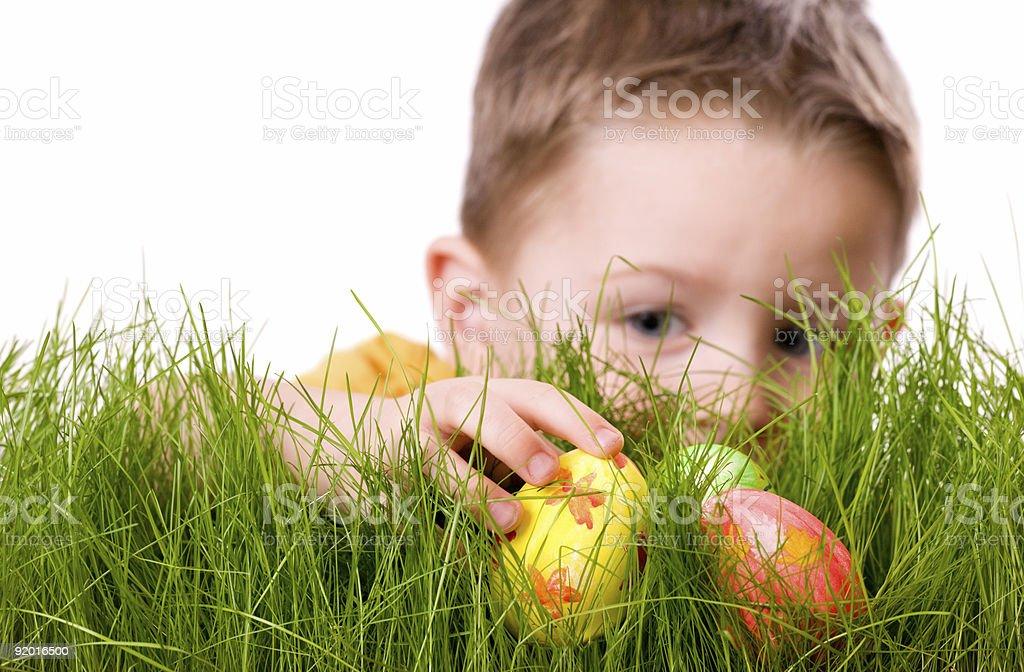 Easter egg hunt royalty-free stock photo