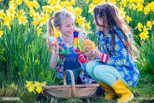 istock Easter Egg Hunt Teamwork 638655946
