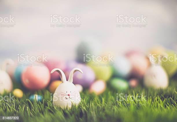 Ostern Ei Jagd Mit Osterhasen Und Eier Dekoriert Stockfoto und mehr Bilder von 2016