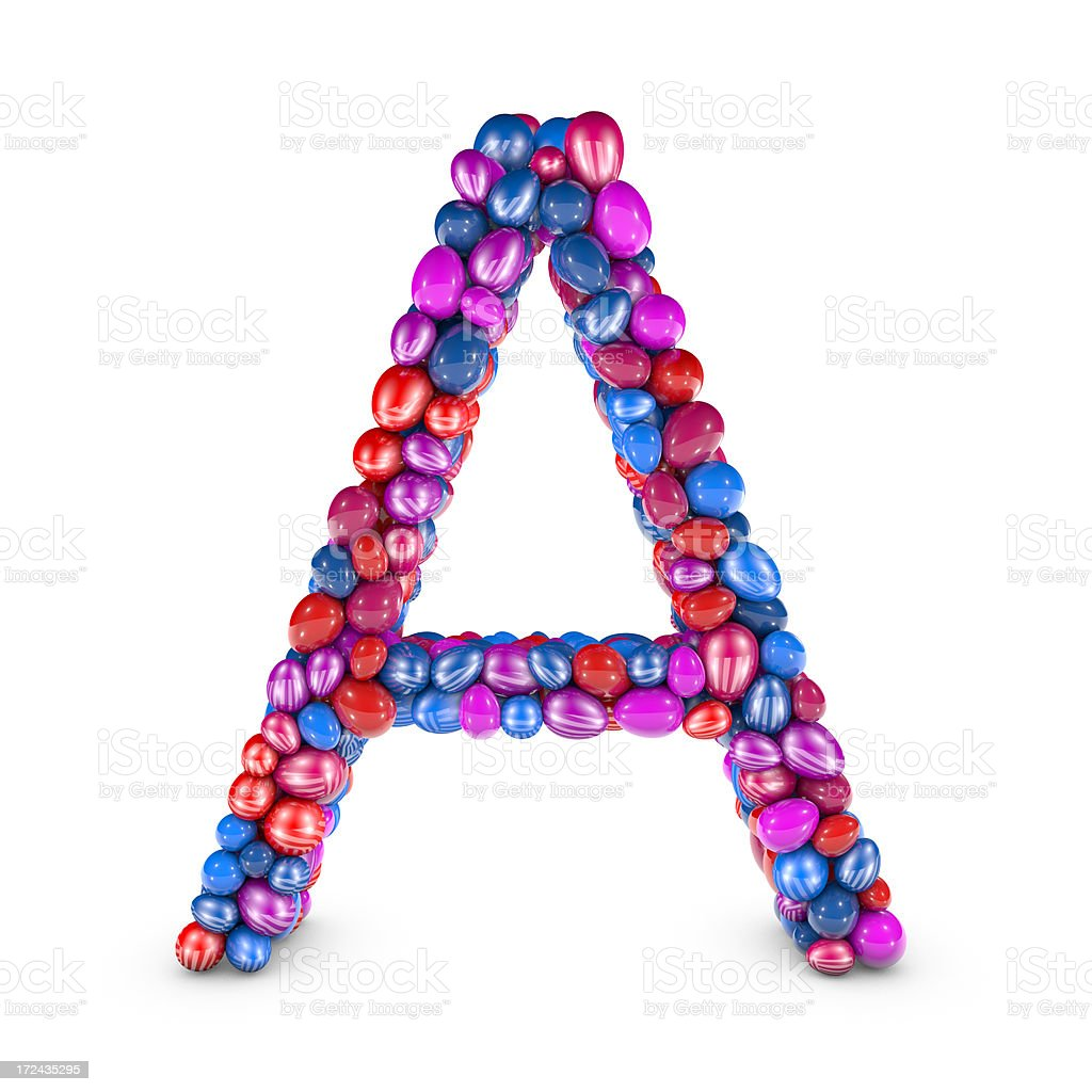 Easter Egg Letter A royalty-free stock photo