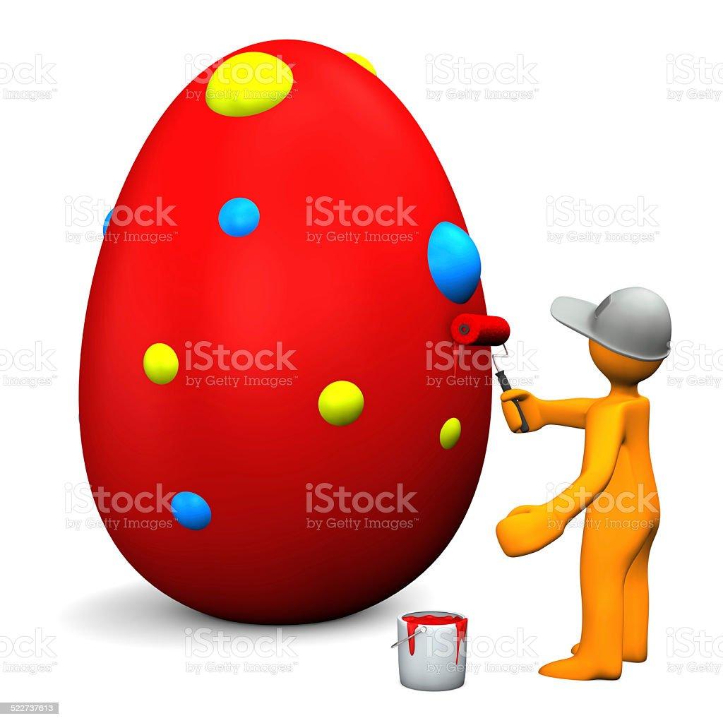 Easter Egg Manikin stock photo
