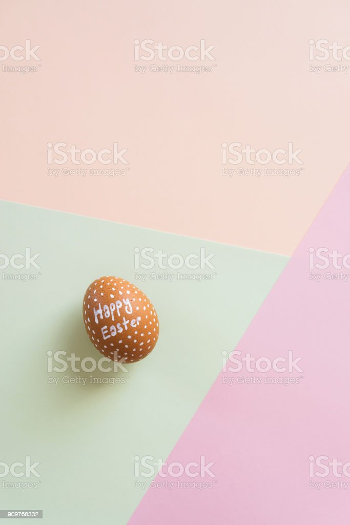Easter eggs on multi color background