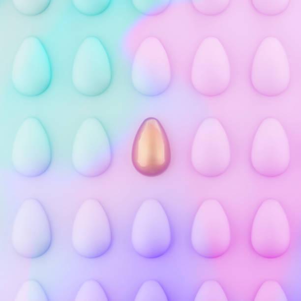 ostereiermuster. einzigartig minimales konzept. neonpastellfarben. - schöne osterbilder stock-fotos und bilder