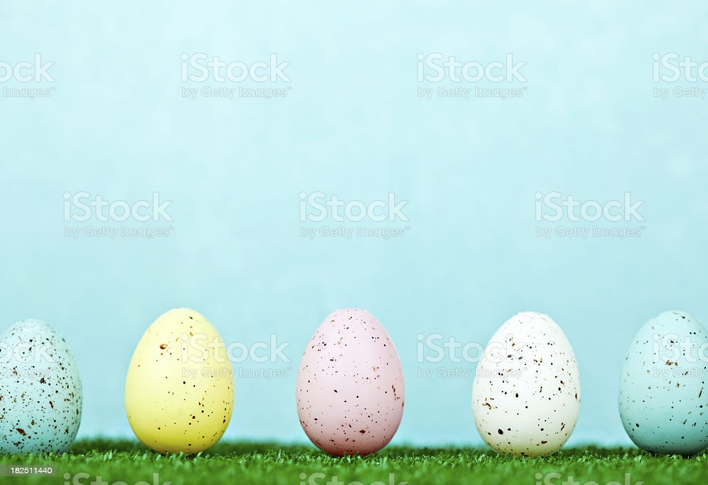 Easter Egg Row royalty-free stock photo
