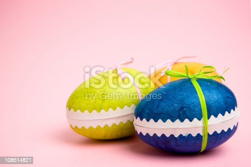 colorful easter egg, can be used as a card.