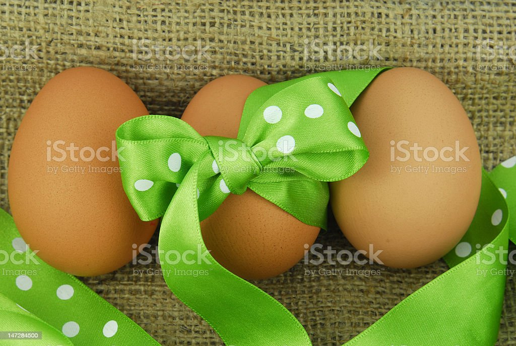 easter egg with ribbon royalty-free stock photo