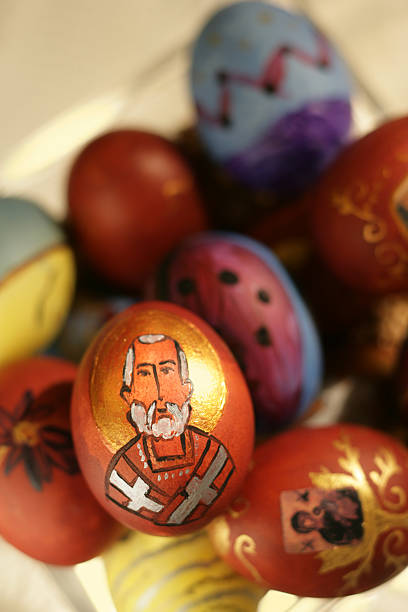 easter eggs 6 - greek easter stock photos and pictures