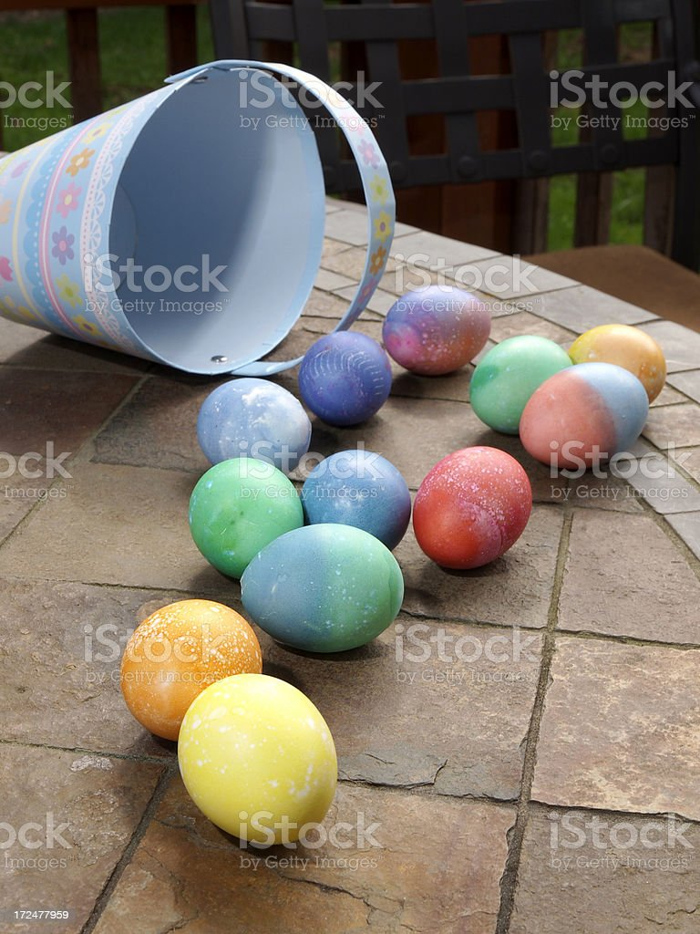 Easter Eggs after the Hunt royalty-free stock photo