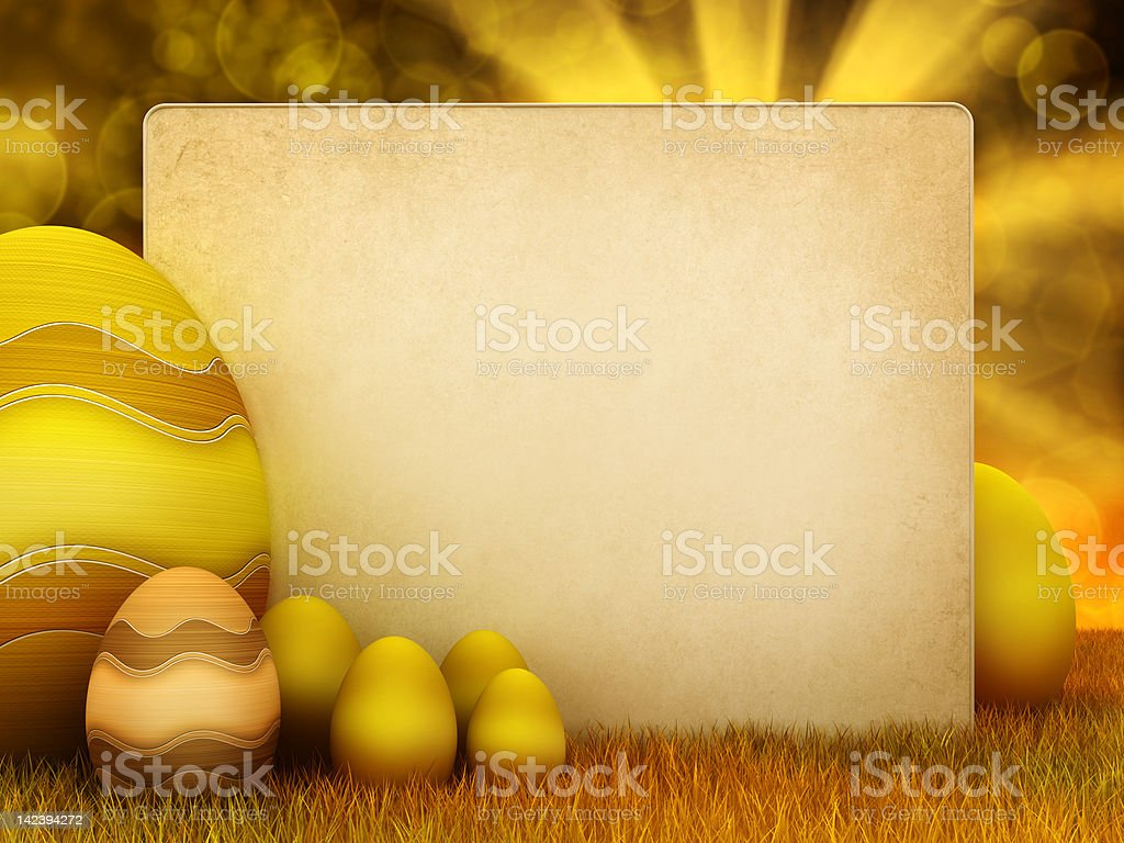 Easter eggs and copy space royalty-free stock photo