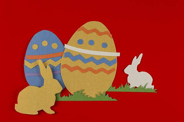 Pasqua uova e conigli - foto stock