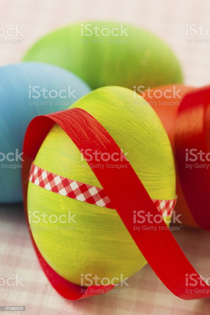 easter eggs and ribbon royalty-free stock photo